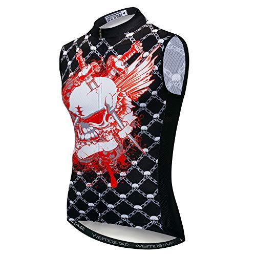 """Conjunto masculino de camiseta sem manga para ciclismo USA Bike P-3GG reflexivo 3 bolsos, Cd5520, M for Chest34.6-37"""",Max Waist39.4"""""""