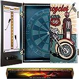 IgnatGames - Juegos de Armarios para Diana - Armario para Diana con Nuevo Sistema LED, 2 tableros de puntuaciones magnéticos con marcadores y línea de Lanzamiento - Armario para Dardos con 3 diseños
