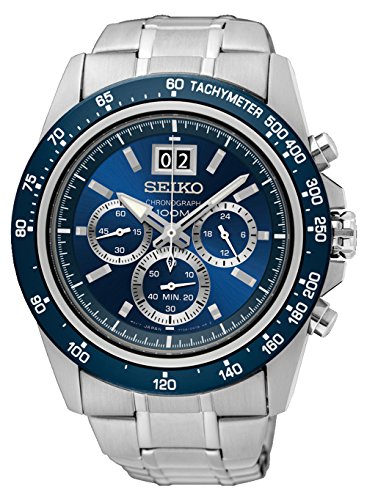 Seiko Reloj Cronógrafo para Hombre de Cuarzo con Correa en Acero Inoxidable SPC235P1