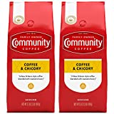 Community Coffee Ground Blend, Coffee & Chicory, 64 Ounce (Pack of 2)