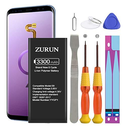 Galaxy S9 Battery ZURUN 3300mAh Li-Polymer Battery EB-BG960ABE Replacement for Samsung Galaxy S9...