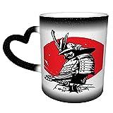 Samurai Character C Tazza da caffè Tazza da tè in ceramica - Altezza: 9 cm - Diametro: 8 cm - Capacità: 330 ml Il regalo ideale per i colleghi di lavoro,