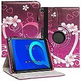 Nauci Tablet Schutz Hülle kompatibel für Alcatel 1T 10 aus hochwertigem Kunstleder mit Standfunktion 360° Drehbar Schutz & Design, Farben:Motiv 7