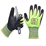 SAFEYEAR Level 5 Cut Resistant Gloves,High Performance Food Grade Protection,Anti-Slip &Hand-Protective,Kitchen & Outdoor Safety Gloves for Meat Cutting,Fishing,Wood Carving, Men&Women(Yellow Medium)