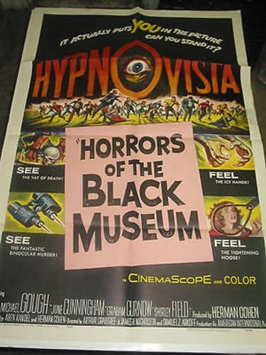 HORRORS OF Classic THE BLACK MUSEUM ORIG. U.S. sale M SHEET POSTER ONE MOVIE