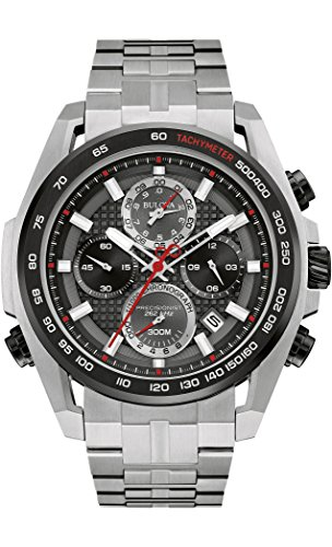 Bulova Men's Quartz Watch with Stainless-Steel Strap,...