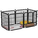 YHWD Puerta Automatica Parque Perros, Cercado para Perros con CombinacióN Libre, Valla Metalica para Evitar Que Las Mascotas Se Escapen,XL