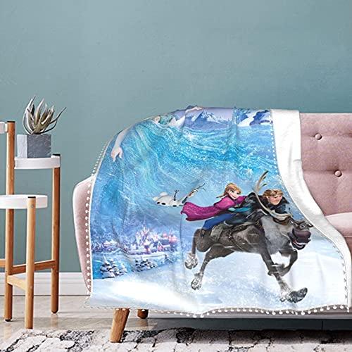 Manta de felpa suave y suave con diseño de Frozen de Disney para cama, sofá, silla, otoño, invierno, primavera, sala de estar