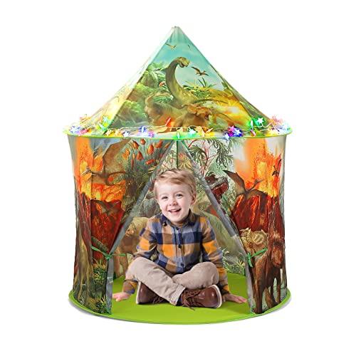 CUTE STONE Kinderzelt Spielzelt Dinosaurier Tipi Zelt Pop-UP Kinderzimmer...