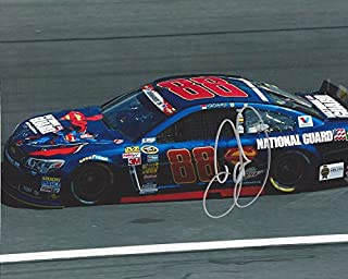 AUTOGRAPHED 2014 Dale Earnhardt Jr. #88 National Guard Racing SUPERMAN CAR (Hendrick Motorsports) Signed Collectible Picture NASCAR 8X10 Inch Glossy Photo with COA