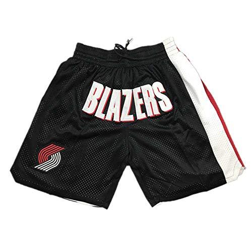 XYXINYING Trail Blazers Basketball Shorts Leichter Comfort Stretch Oxford Short für Herren