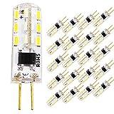 Pack de 20 bombillas LED G4 de 1,5 W, 220 V CA, sustituye a bombillas halógenas de 15 W, blanco frío 6000 K, ángulo de iluminación de 360 grados, bombilla G4 de bajo consumo, no regulable