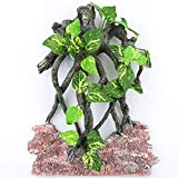 AQUA KT Reptile Climb Tree Branch Rock Background Decoration with Suction Cup for Terrarium Amphibian Lizard Snake