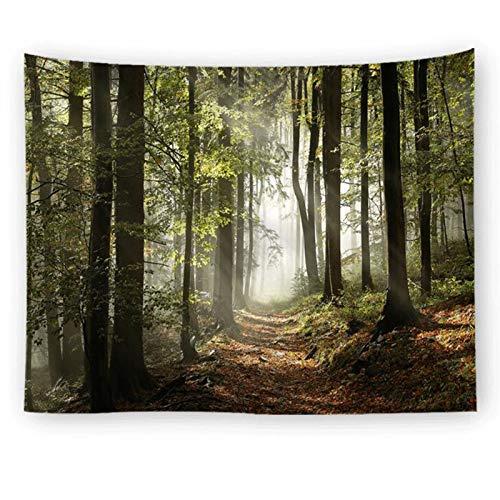 Jcnfa Misty Forest Tapices Tapicería De Niebla De Niebla, Árbol De La Naturaleza/Tapicería del Bosque, Colgante De Pared, Tapicería De Color Multicolor para Sala De Estar Dormitorio