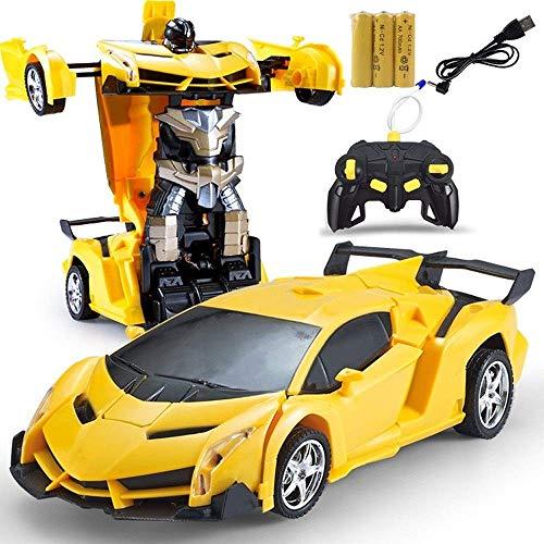 Decoración de escritorio 1/18 coche teledirigido un botón transformador de juguetes de...