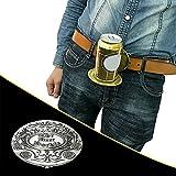 Hunpta @ Gürtelschnalle Flaschenschnalle Getränkehalter Bierholster, lustige Metall Gürtel Kopf,...