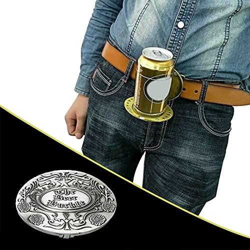 Hunpta @ Gürtelschnalle Flaschenschnalle Getränkehalter Bierholster, lustige Metall Gürtel Kopf, Damen und Herren Flasche Schnalle Bier Halter, Geeignet für Grill, Bar, Party, Fußballspiel
