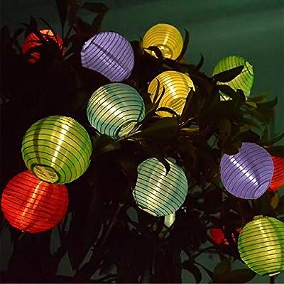 Vigdur Solar LED Fairy Lights Lantern String Li...