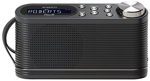 Roberts Radio Play10 Tragbares-Radio (DAB+/DAB/FM Tuner) schwarz