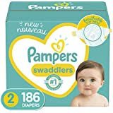 Baby Diapers Size 2, 186 Count - Pampers Swaddlers, ONE MONTH SUPPLY (Packaging May Vary)
