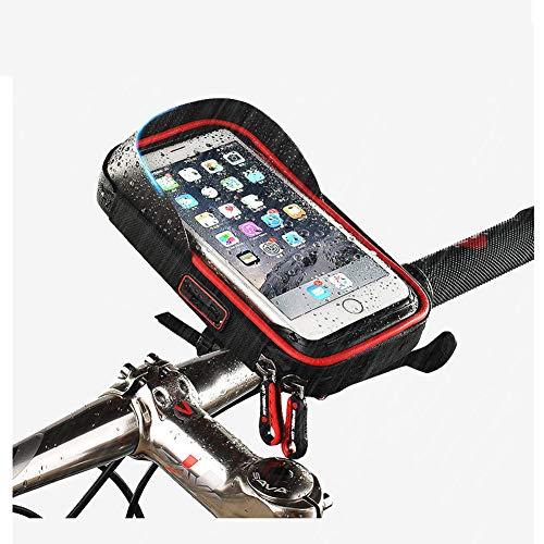 Fahrradlicht,IP5 Wasserdicht Freisprecheinrichtung Bluetooth Lautsprecher Set mit Led Vorne Fahrradbeleuchtung,4400mAh USB Aufladbar Powerbank,Fahrradglocke und Handyhalter für Fahrrad Zubehör,Bag