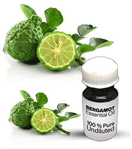 Aceite esencial de bergamota 100% puro de bergamota sin diluir de calidad premium (10 ml)