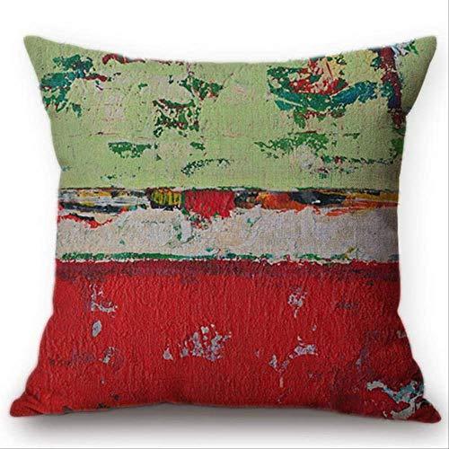 QIANGST Graffiti-kunstolieverfschilderij bedrukt stijl kussensloop kleur graffiti-decoratie sofa decoratief kussen afdekking