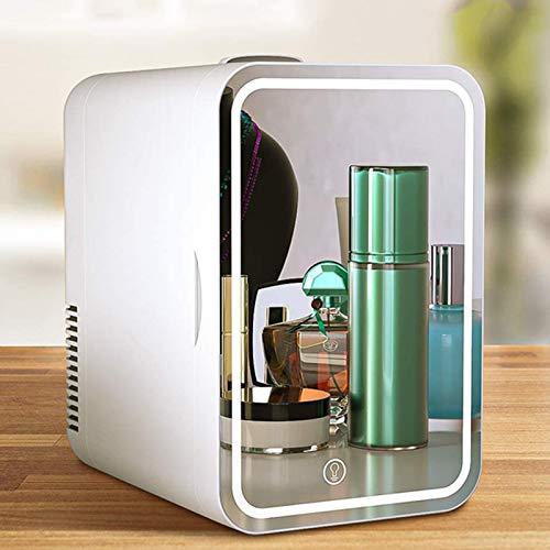 GUTYRE Refrigerador De La Belleza, Refrigerador del Espejo 8L, Mini Refrigerador Casero del Coche Pequeño, Refrigerador Cosmético, Congelador Pequeño