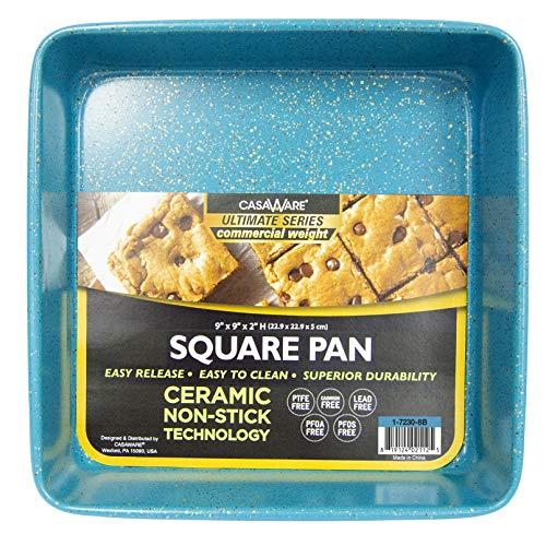 casaWare Ceramic Coated NonStick 9-inch Square Cake Pan