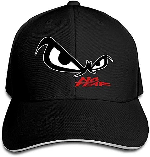 vbcnfgdntdy Hittings Unisex No Fear Owl's Eyes Sandwich Baseball Cap Black