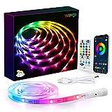 2M USB Retroilluminazione LED TV Dream Color, Tasmor Bluetooth Striscia LED RGB+IC con App Controllato, Led Strisce Modalità Monitor 213 Modalità 16 Milioni Colori DIY per HDTV da 32-55 Pollici PC/TV