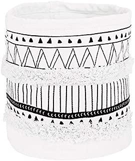 LIVEBOX Moroccan Fringe Storage Baskets or Bin,Bohemian Geometric Cotton Linen Plant Basket Hamper Boxes for Modern Home Decor Baby Nursery Laundry Kid's Room Indoor Planter Toy Organizer