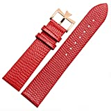 18mm 20mm Genuine Leather Watch Band Strap Buckle for Vacheron Constantin Watch (20mm, Red(Rose Gold Buckle)) -  Richie strap
