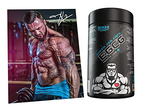 Fan Edition B.A.M. EGCG Green Tea Caps Performance Regeneration Fat Loss Diet Fitness Bodybuilding 60 Capsules with Autograph Card