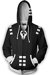 Hot Anime Soul Eater Death The Kid Cosplay Costumes 3D Printed Sports Jacket Hoodie