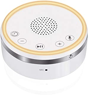 Ticent White Noise Machine, Baby Sleep Sound Machine for Sleeping | Portable Sleep Therapy Machine for Home, Office, Baby or Travel | Plug in Or Battery Operated, Auto-Off Timer, Voice Recorder