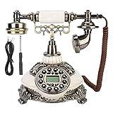 Teléfono Antiguo, Teléfono Fijo Retro Europeo Clásico, Vintage Dial Rotación Antigua, Télefono Retro/Telefono Fijo con Cable para Escritorios, Salas, Dormitorios, Teléfono para la Decoración del Hogar