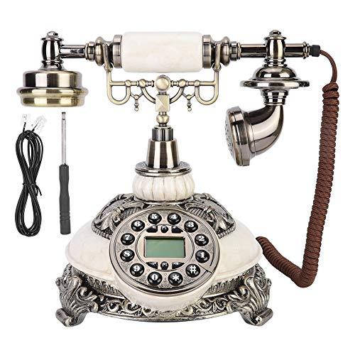 Teléfono antiguo retro, teléfono antiguo antiguo de la vendimia, teléfonos fijos de moda retro de estilo europeo con dial de botón adecuado para decoración del hogar, oficina, decoración de hotel estr