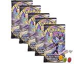 ★ Pokemon Espada & Cartel – Serie 2 Clash de los rebeldes – 5 x Booster – Alemán además 1 x Sticker-und & Co Frutmix Bonbon