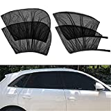 Universal Car Sun Shade for Window UV, Car Anti-Mosquito Curtain, Breathable Mesh Sun Shield Protect Baby Pet from Sun,for Most of Vehicle (4PC Set)