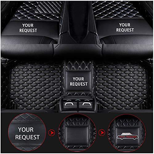 Muchkey Custom Auto Fußmatten für Audi A1 A3 A4 A4L A5 A6 A6L A7 A8 S3 S5 S6 S7 S8 Q2 Q3 Q5 Q7 TT R8 RS e-tron Schwarzes&Beige