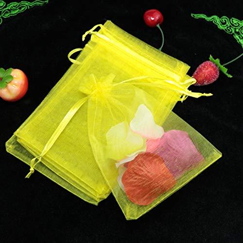 N\A Bolsas de Regalo, Nuevos 10 unids (9 tamaños) Bolsas de Organza Bolsas de Boda Bolsas de Fiesta Agradable Bolsa de Regalo 21 Colores Selección Joyas Embalaje Bolsa de Gasa Transparente