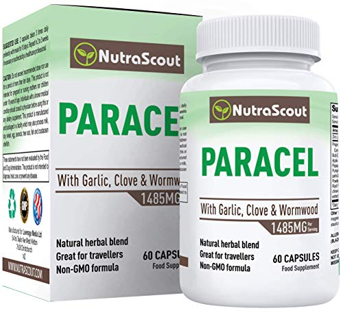 Paracel Intestinal Guard - Intestinal Cleanse for Humans - Wormwood, Black Walnut & Clove - 100% Money Back Guarantee - 60 Capsules (Non-GMO)
