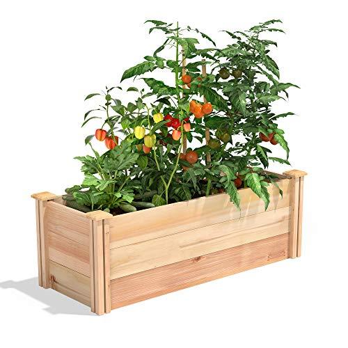 Greenes Fence Premium Cedar Raised Garden Bed, 16' x 48' x 16.5'