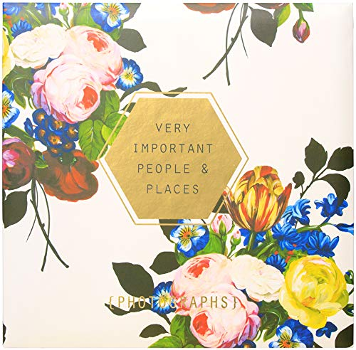 C.R. Gibson Floral 'Very Important People & Places' Magnetic Photo Album, 16 Pages, 13.5' W x 13' L