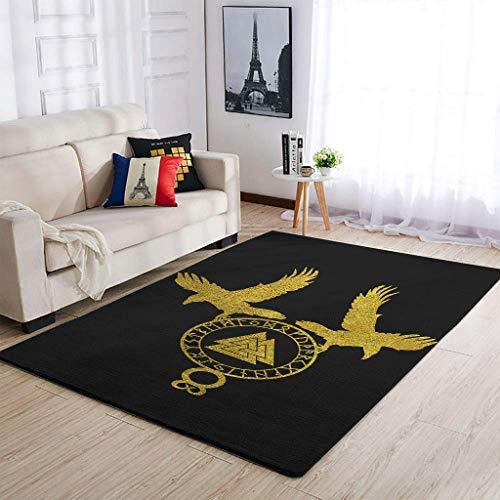Bannihorse Alfombra de lujo vikingo para interior y exterior, moderna, suave, para dormitorio infantil, color blanco, 122 x 183 cm