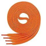 Cordón plano Di Ficchiano para zapatillas y calzado deportivo, muy resistente, aprox. 7,0 mm de ancho, 45 colores, 60 cm - 220 cm de largo, poliéster, color Naranja, talla 80