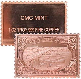 Jig Pro Shop CMC Mint 1 oz .999 Pure Copper Round/Challenge Coins & Stamps