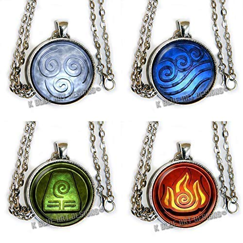 Avatar The Last Airbender inspired Symbols - Set of 4 - pendant necklaces - HM