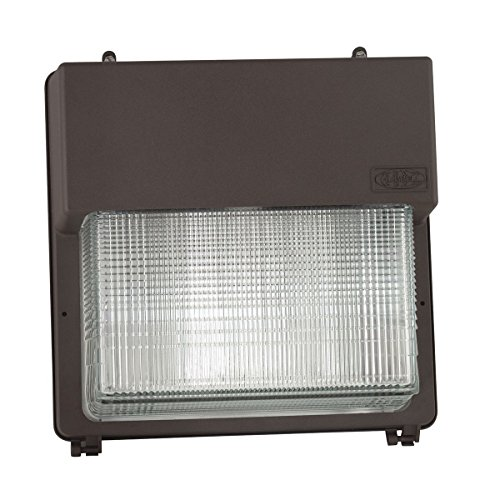 Hubbell Outdoor Lighting PGL-350P-128-1-LP Perimaliter PGM3/PGL 350W PS Quad-Tap Wall Pack with Lamp, Dark Bronze
